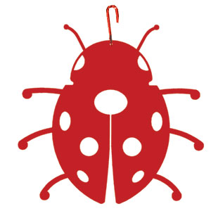 Ladybug - Decorative Hanging Silhouette-RED