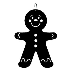 Gingerbread Boy - Decorative Hanging Silhouette