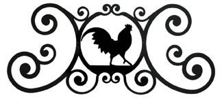 Rooster - Over Door Plaque