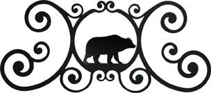 Bear - Over Door Plaque