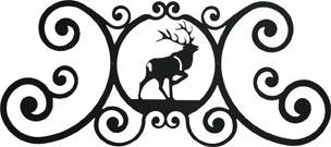 Elk - Over Door Plaque