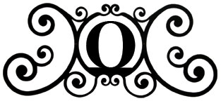House Plaque Letter O