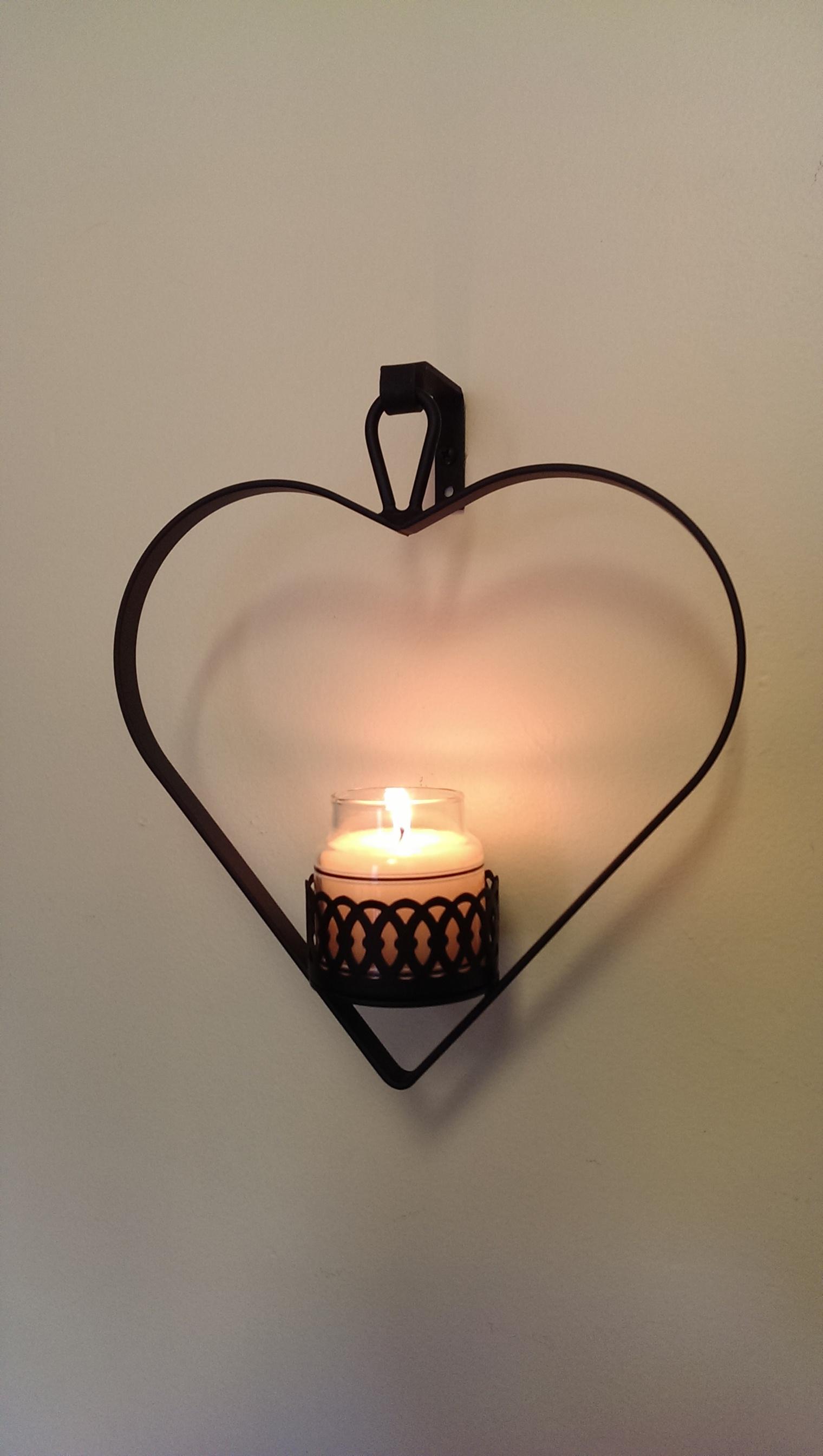 NO LONGER AVAILABLE - Heart Mini Yankee Jar Holder -CLOSEOUT SALE