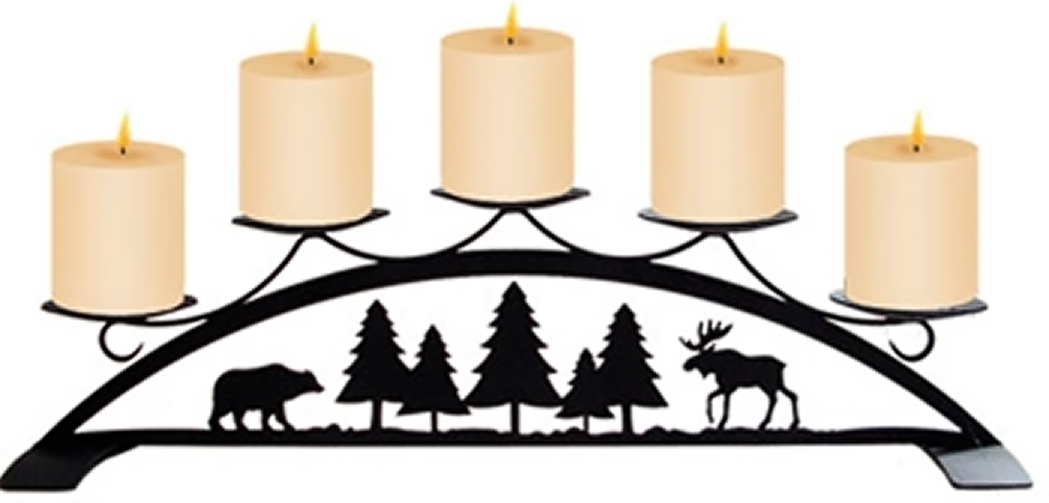 Moose & Bear - Table Top Pillar Candle Holder