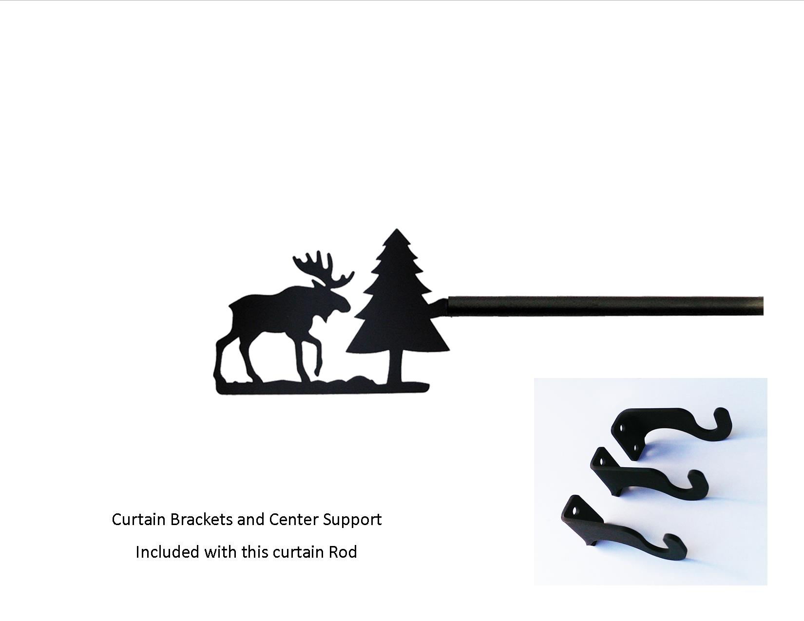 Moose/Pine Curtain Rod - LG  (Hardware is INCLUDED)