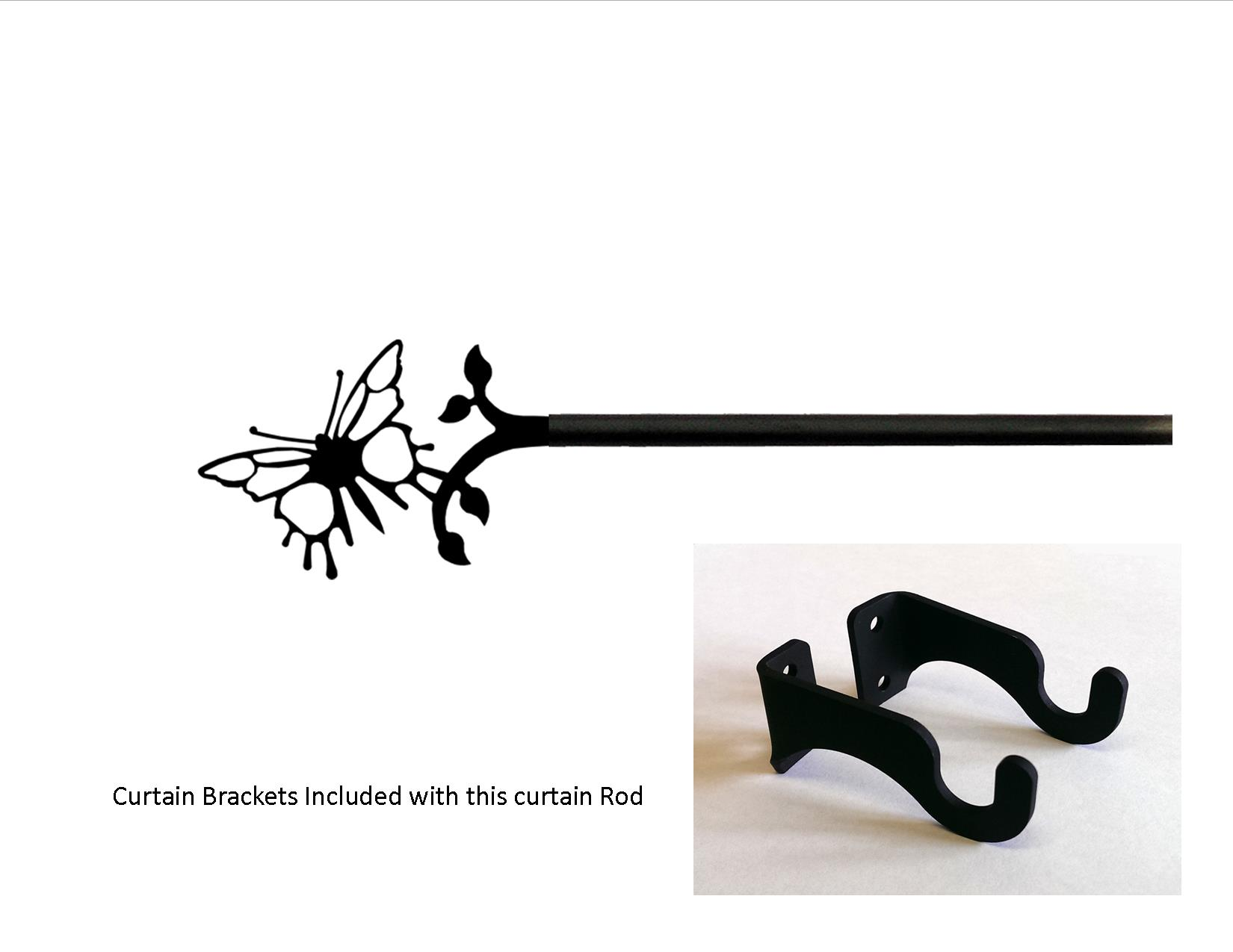 Butterfly Curtain Rod - SM  (Hardware is INCLUDED)