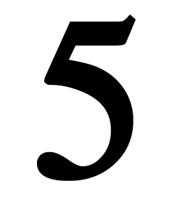 Number 5 Small