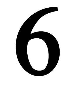 Number 6 Small