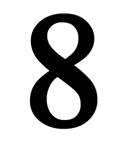 Number 8 Small
