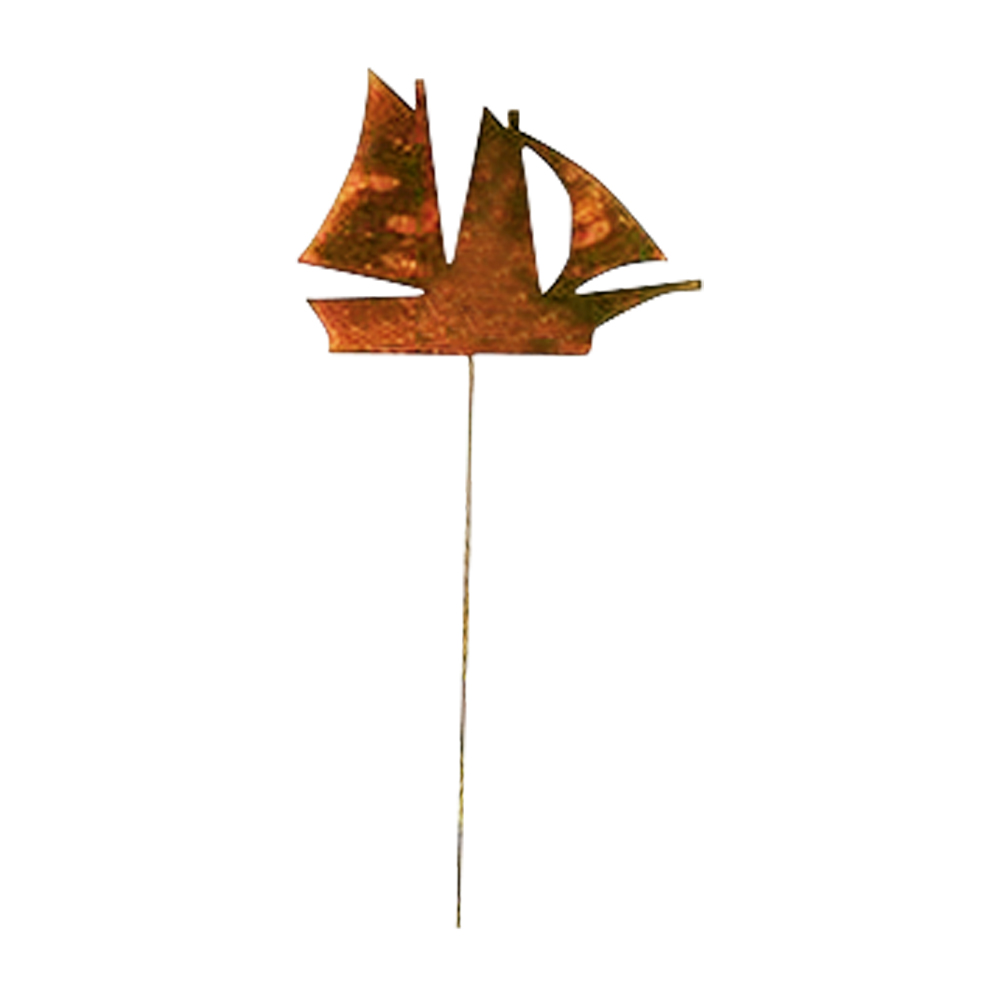 Sail Boat - Rusted Garden Stake