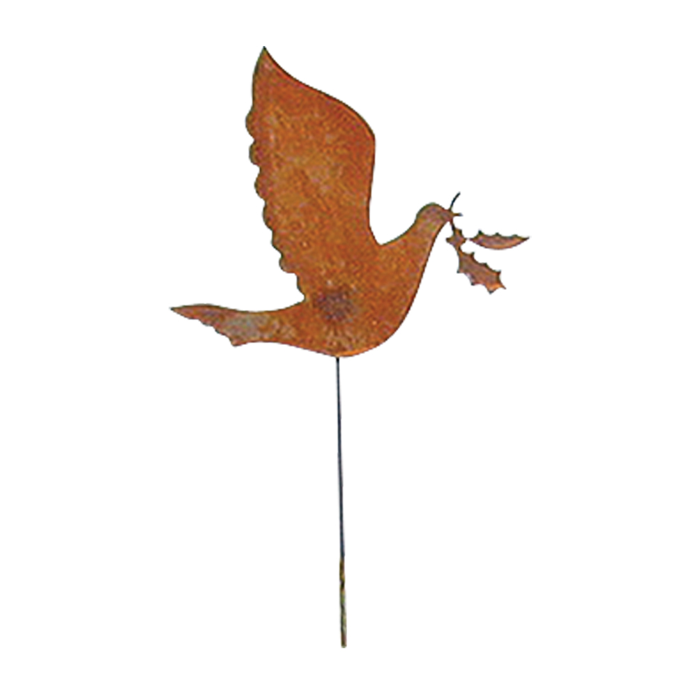 Dove - Rusted Garden Stake