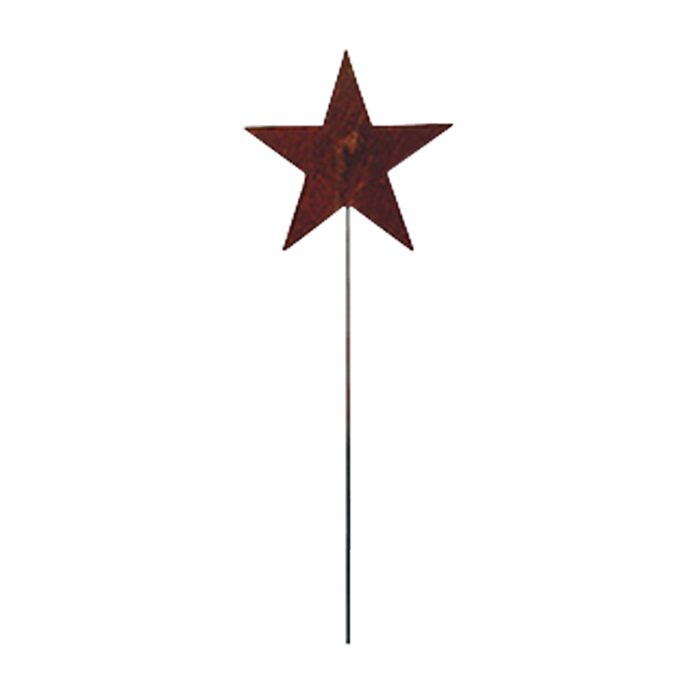 Star - Rusted Garden Stake