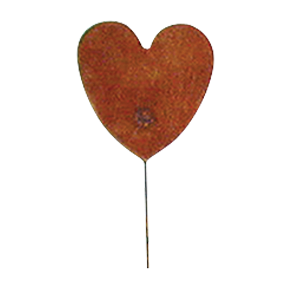 Heart - Rusted Garden Stake