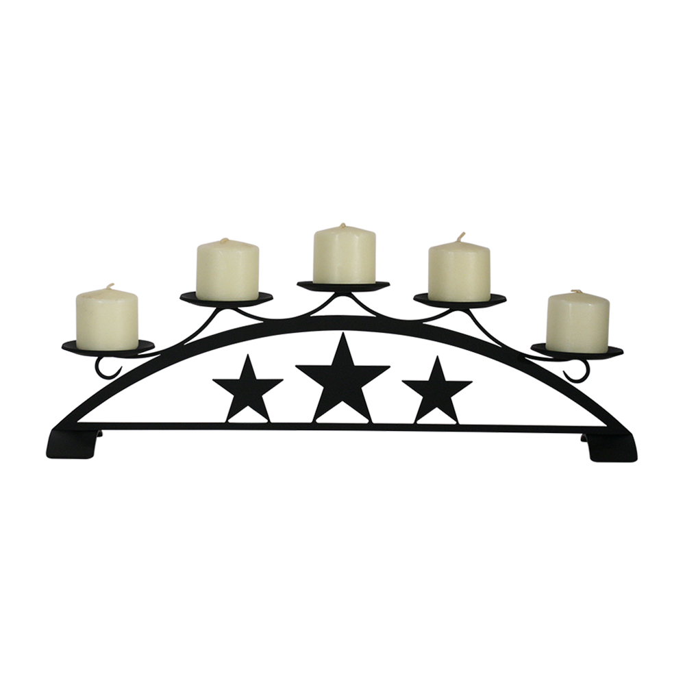 Star - Table Top Pillar Candle Holder
