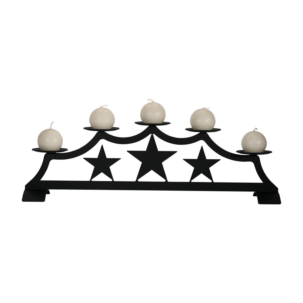 Star - Fireplace Pillar Candle Holder