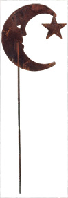Moon/Star Rusted  Stake