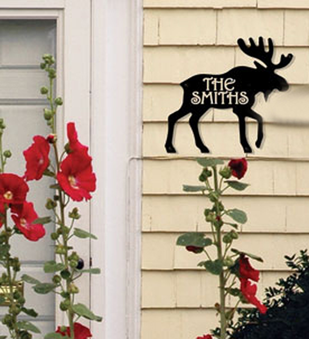 Moose - Customized House Plaque