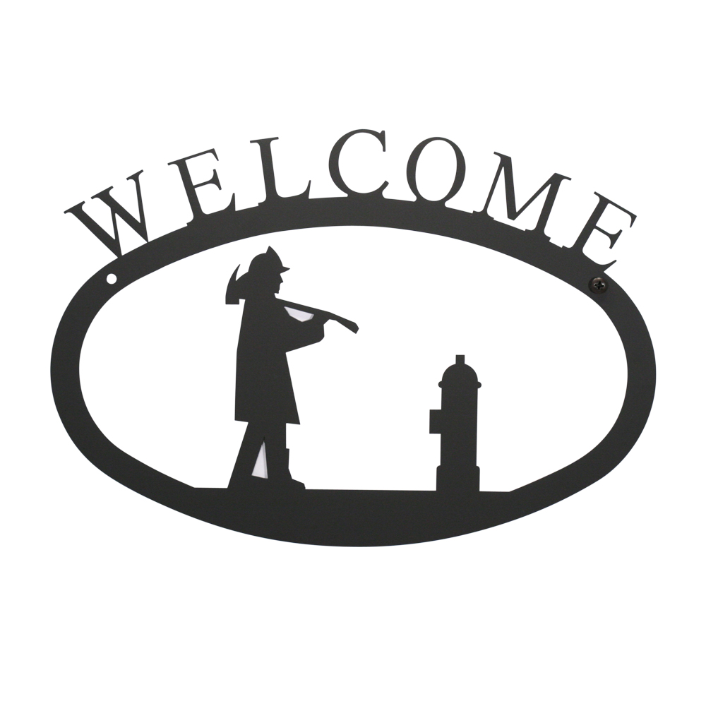 Fireman - Welcome Sign Small