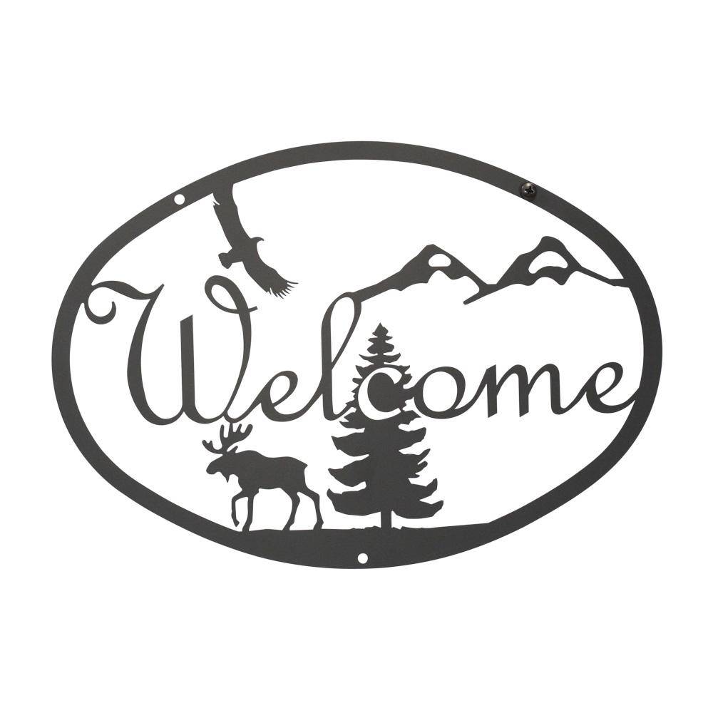 Moose & Eagle - Welcome Sign Medium