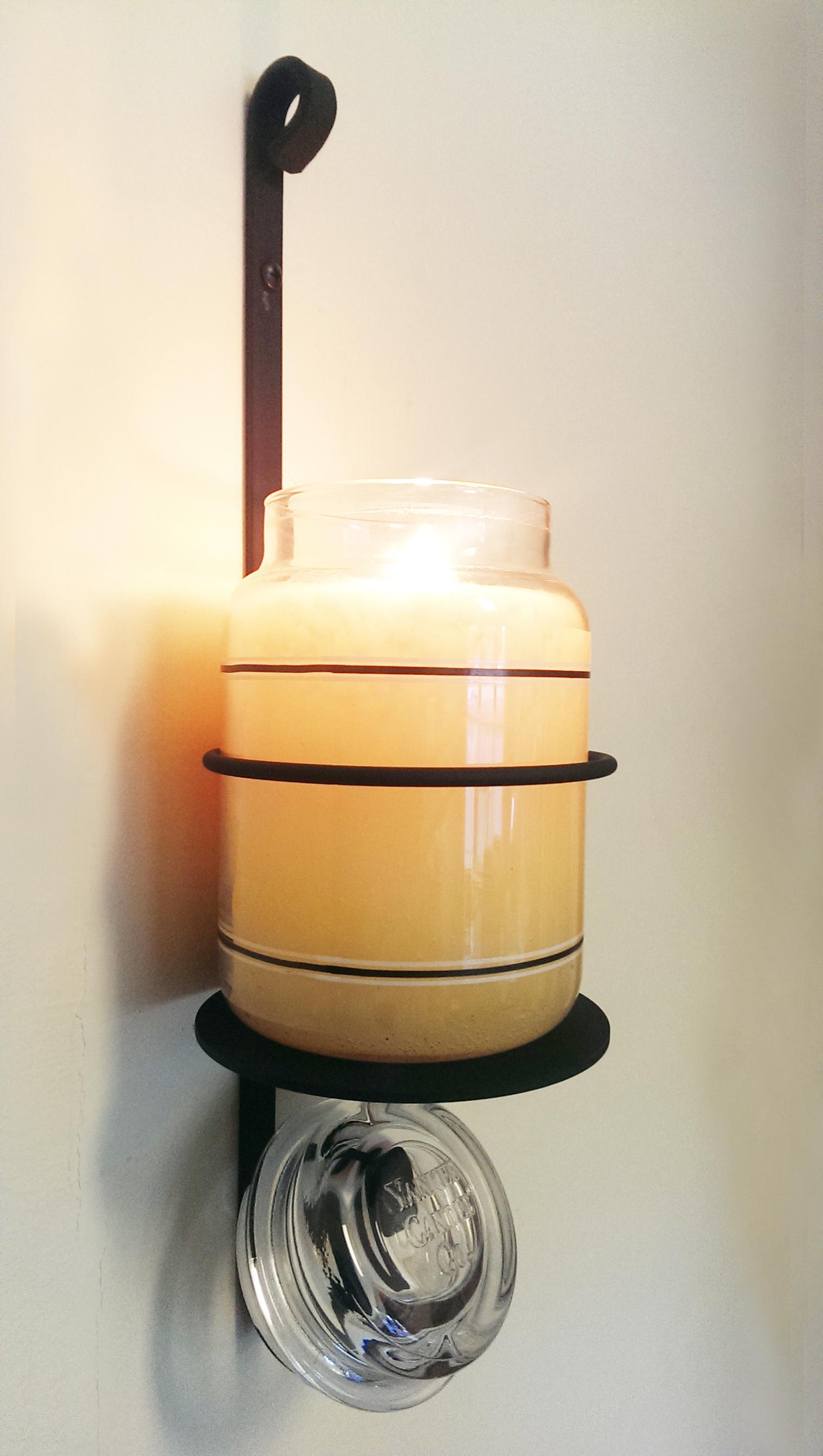 Candle Jar Sconce Holder