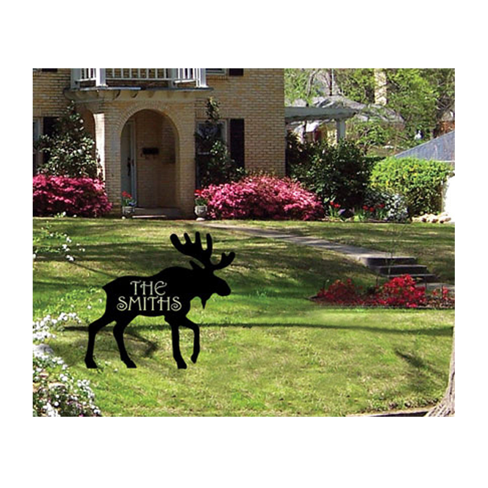 Moose - Customized Lawn Plaque
