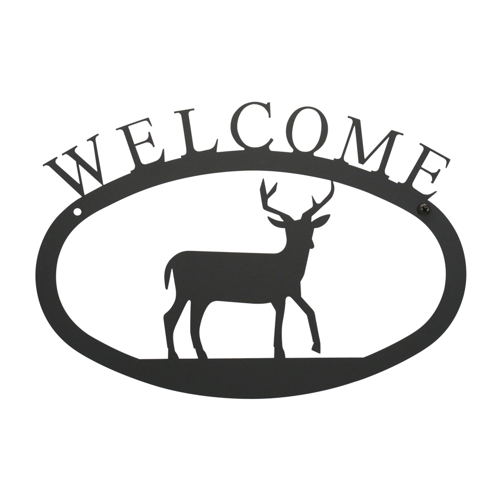 Deer - Welcome Sign  Large