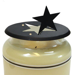 Star - Candle Jar Topper