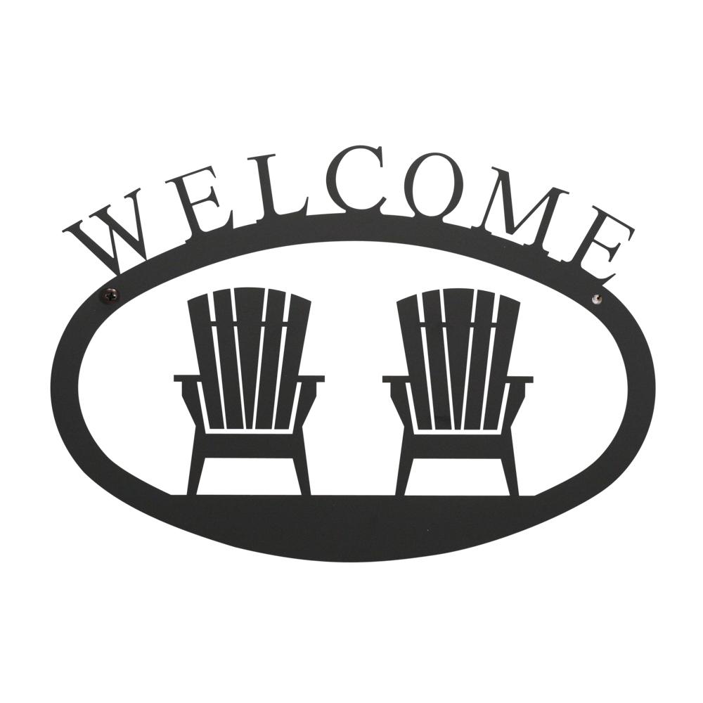 Adirondacks - Welcome Sign Large