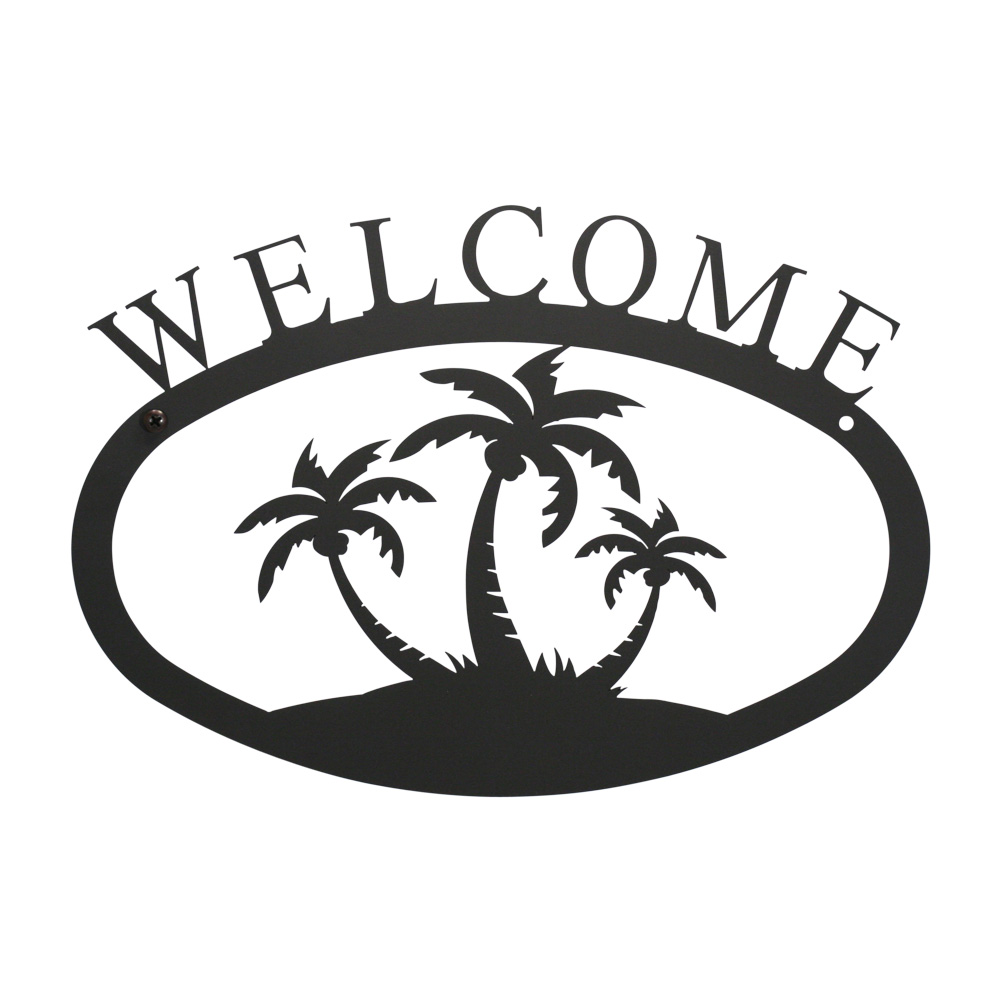 Palm Trees - Welcome Sign Large