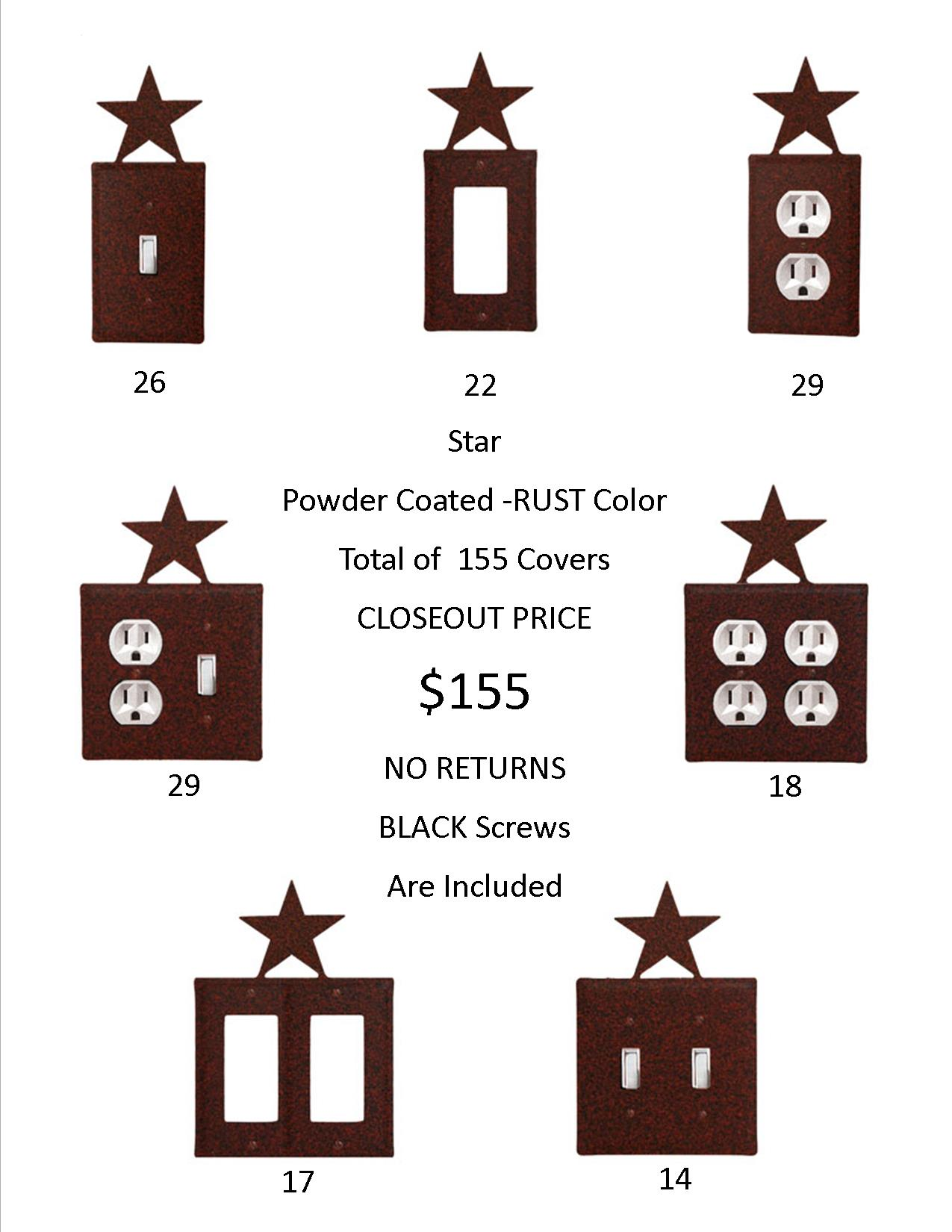 STAR CLOSEOUT - Rust Color ONLY.   155 Covers for only $1 EACH!    Hundreds Of Dollars Worth of SAVINGS and that's just on the Wholesale Price! Jut think of the PROFIT on the Retail Sales.