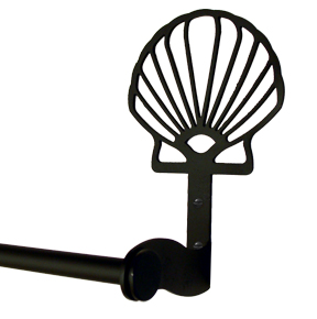 Scallop Shell Towel Bar - Small - SUPER SALE... now 8.98 OFF the Regular Price!  That's 50% Discount off the Regular price of 17.95...Hurry while supplies last.