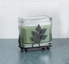 SALE 1 - Leaf Rectangular Candle Jar Holder