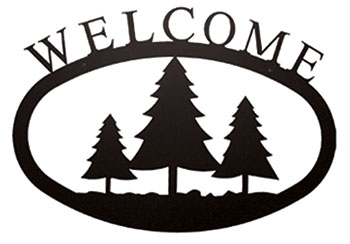 Pine Trees - Welcome Sign Large