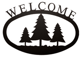 Pine Trees - Welcome Sign Small