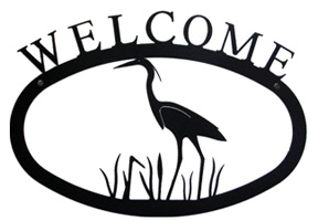 Heron - Welcome Sign Small