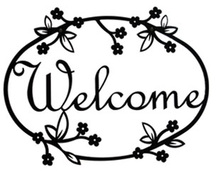 Floral - Welcome Sign Medium