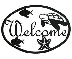 Ocean - Welcome Sign Medium