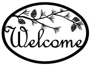 Pinecone - Welcome Sign