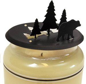 Bear & Pine - Candle Jar Topper