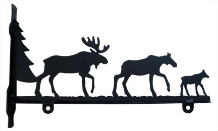 Moose Family - Sign Bracket 36 Inch