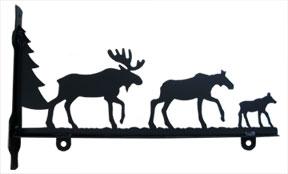 Moose Family - Sign Bracket 18 Inch