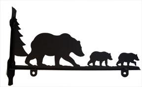 Bear Family - Sign Bracket 18 Inch