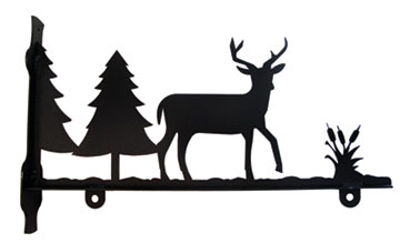 Deer and Pines - Sign Bracket 24 Inch