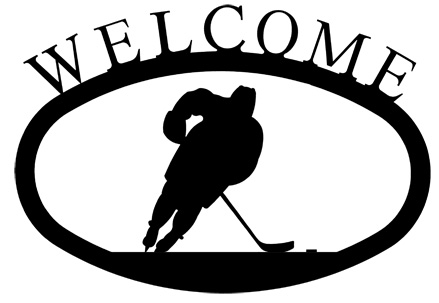 Hockey Player - Welcome Sign Small