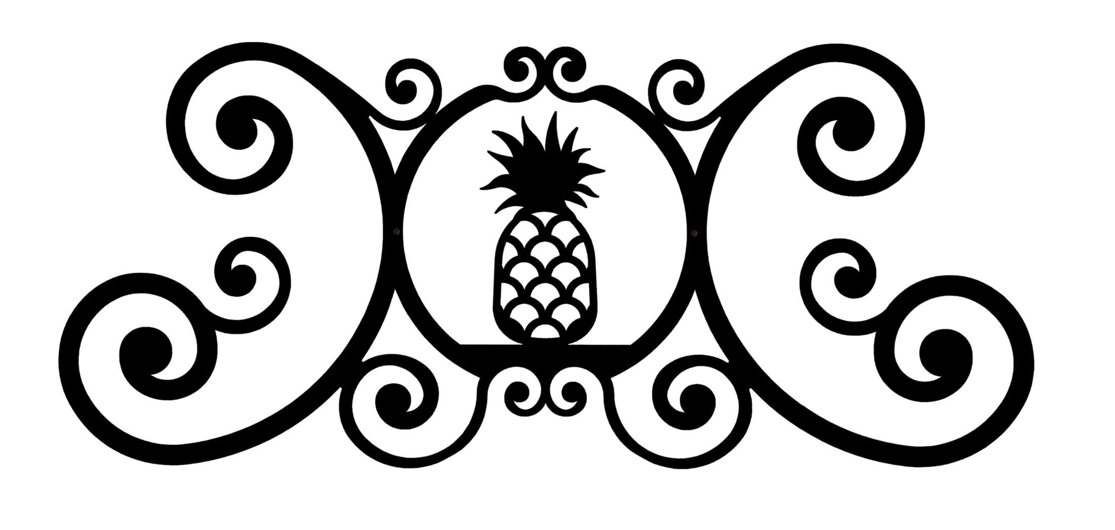 Pineapple - Over Door Plaque