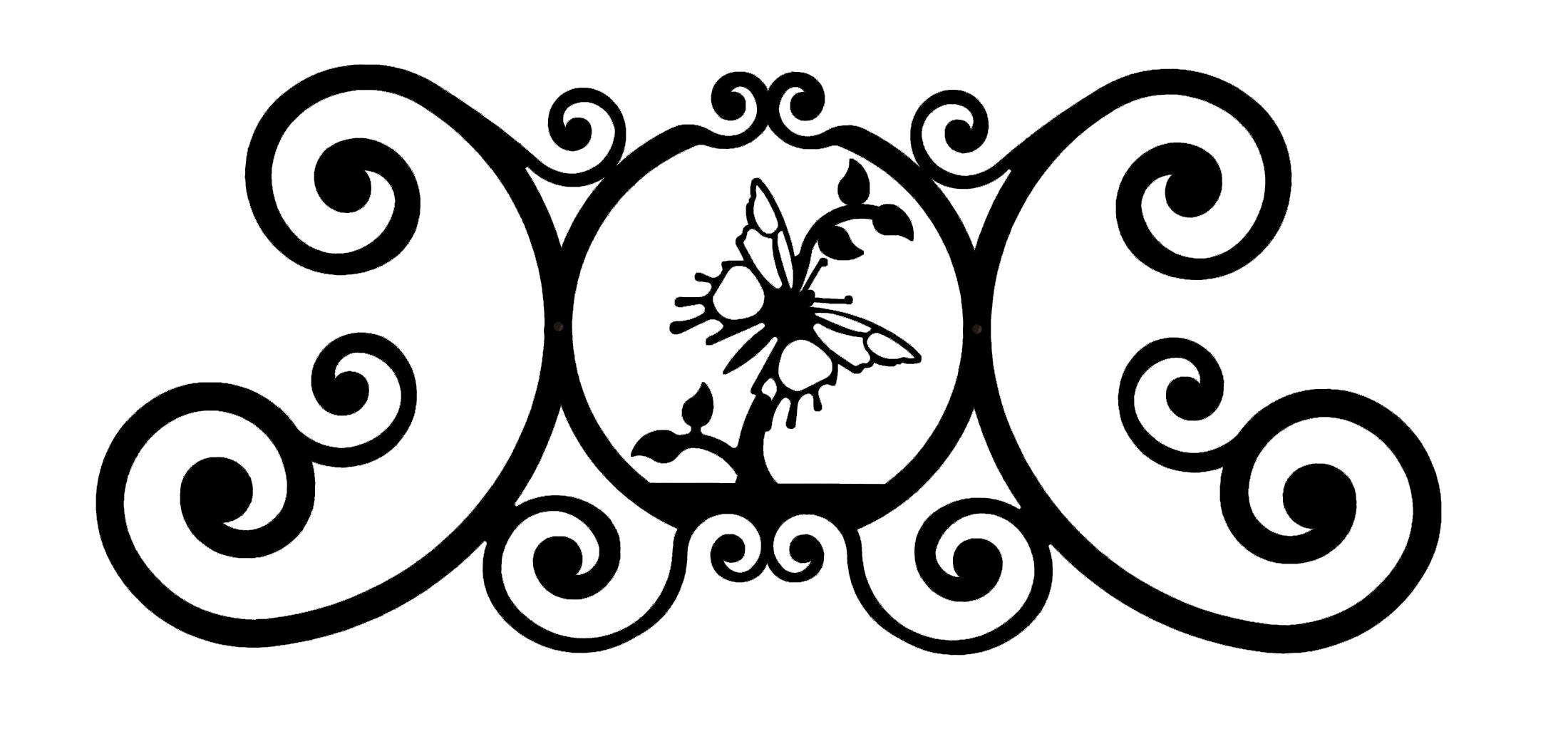 Butterfly - Over Door Plaque