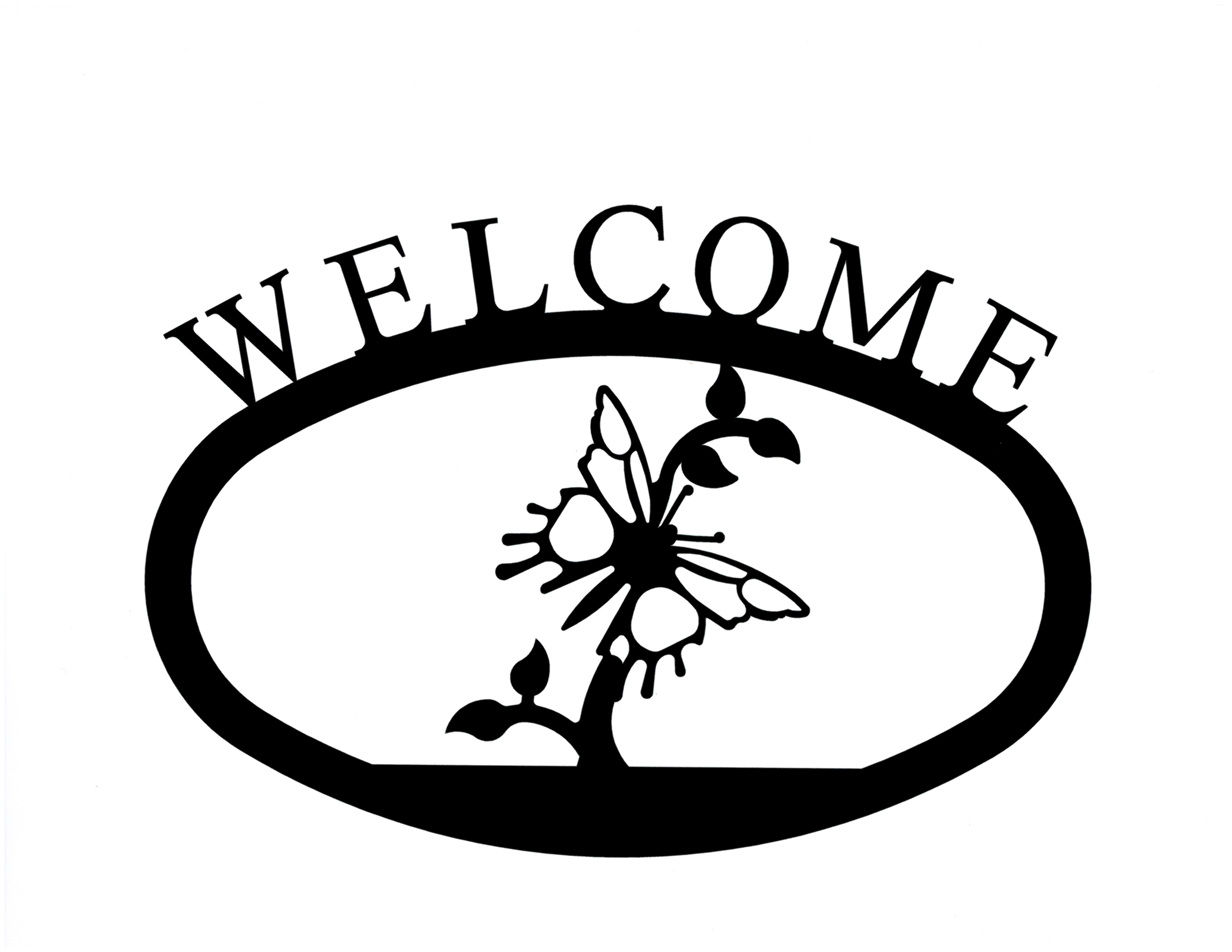 Butterfly - Welcome Sign Large