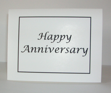 Happy Anniversary Card with Envelope