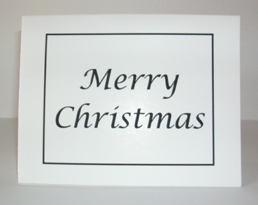 Merry Christmas Card with Envelope