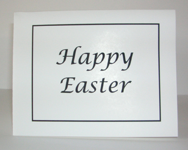 Happy Easter Card with Envelope